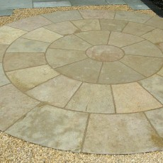 Yellow Limestone Circle 1.8m