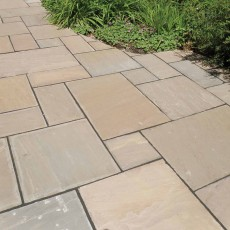 Autumn Brown Sandstone Paving per mtr