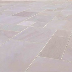 Sandstone Ivory Smooth Paving per mtr
