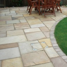 Fossil Mint Sandstone Paving per mtr