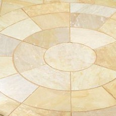 Hand Cut Circle Camel Sandstone Paving 2.8m