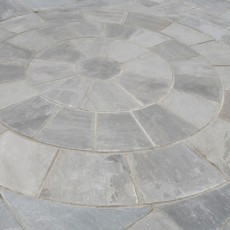 Hand Cut Circle Grey Sandstone Paving 2.8m