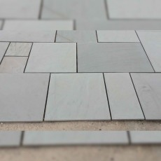 Sandstone Silver Grey Smooth Paving per mtr