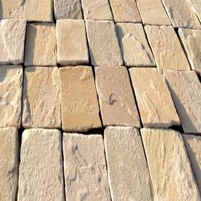 Fossil Mint Sandstone Cobble 100x200mm