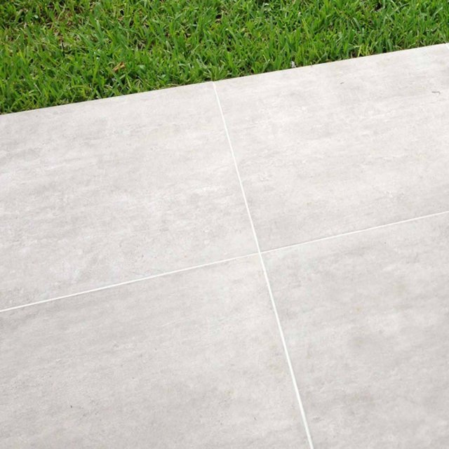 Pilano White Porcelain 600x600mm per mtr - Porcelain - Hampshire Garden  Supplies